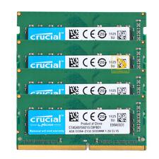 Crucial DDR4 RAM 16GB 4x 4GB PC4-17000 2133MHz 260Pin Laptop Memory CT4G4SFS8213