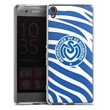 Sony Xperia XA Silikon Hülle Case - Blaues Zebra MSV