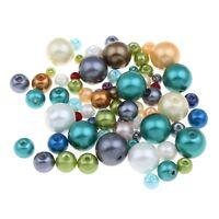 Glaswachsperlen 250g Mix 2/6/8/10/12 mm Schmuck Basteln Wachs Perlen Bunt D56