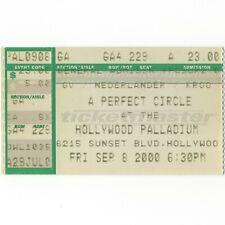 A Perfect Circle Concert Ticket Stub Hollywood 9/8/00 Palladium Mer De Noms Rare