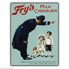 Metal Sign Wall Plaque FRY'S MILK CHOCOLATE RETRO VINTAGE POSTER Picture c1890s