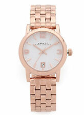 NEW Marc by Marc Jacobs MBM3438 Women's Farrow White Rose Gold Watch