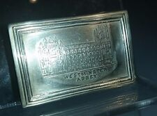 1902 Silver matchbox cover, Levi & Salaman of Westminster Abbey Special Bee box