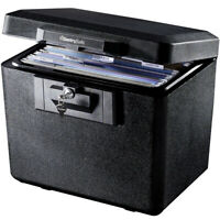 Fireproof Security File Document Storage Box Durable Privacy Key Lock 0.61 Cu Ft