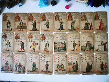 Antique Parisian Fortune Telling Cards Tarot 1890 Le Petit Cartomancien  Grimaud