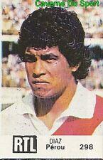298 RUBEN TORIBIO DIAZ PERU VIGNETTE STICKER WORLD CUP ARGENTINA 78 RTL - BUT