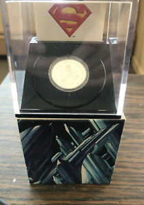 2013 RCM Vintage 10$ Fine Silver 75th Anniversary Of Superman Coin. 1/15000