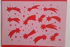 Schablonen 962 Sternschnuppe Mylarfolie Shabby Möbel Wandtattoo Wandbild Stencil