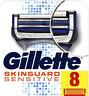 Gillette SkinGuard Sensitive Razor Blades 8 Pack NEW GENUINE SEALED + FREE P&P