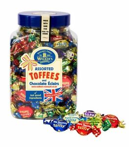 Walkers Nonsuch Assorted Toffees and Chocolate Eclairs Jar 1.25kg