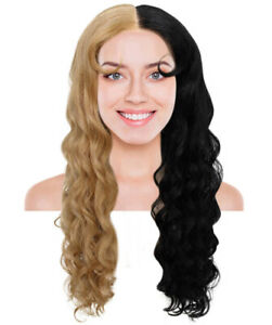Women's Two Tone Luxurious Lace Front - Strawberry Blonde and Black Wig NUW-0058