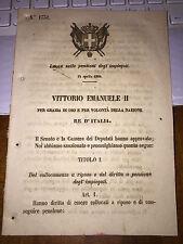 LEGGE SULLE PENSIONI DEGLI IMPIEGATI 14 APRILE 1864