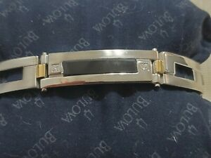 Great Modern Stainless Steel 18k Yellow Gold Diamond Dolan Bullock Mens Bracelet
