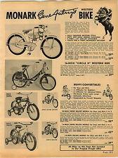 1953 ADVERTISEMENT Monark Gene Autry's Western Bike Bicycle Buddy L Trucks