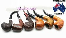 RESIN smoking pipes boxed set of 6 luxury style wood look collectable collection