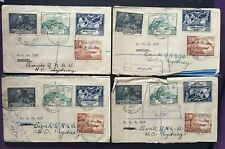Solomon Islands 1949 UPU 4 sets on Registered FDCs addr. to Sydney from Honiara
