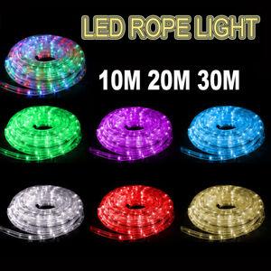 LED 10M 20M 30M Party Christmas Lights Wedding LED Rope Light Waterproof Xmas