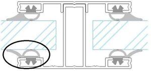 Lippendichtung für Sprossen, für Stegplatten-Verlegesystem auf Holz, Stahl, Alu