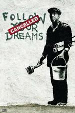 Banksy Poster Follow Your Dreams - Kunstdruck Plakat - Street Art - 61 x 91,5 cm