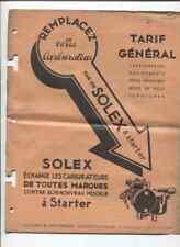 N°4798  /  SOLEX : catalogue tarif général mars 1933