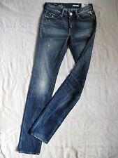 Replay Damen Blue Jeans Denim W25/L34 low waist slim fit straight slim leg