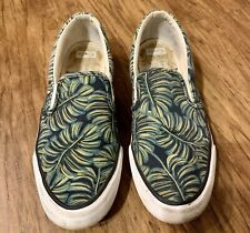 Keds x Rifle Paper Co Anchor Slip On Paper Palms Green Leaf Print Size 7.5 Shoes
