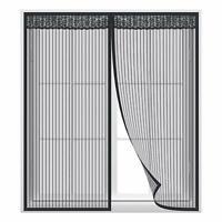 Fliegengitter Fenster Insektenschutz Magnet Vorhang Für Schiebefenster  Schwarz