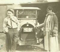 1924 Antique Buick Car with Ohio License Plate #41-052 Vintage Photo