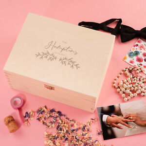 Personalised Wedding Memory Box for Couples - Anniversary Gifts for Him Her