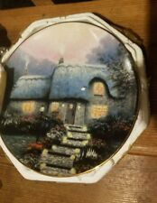 Thomas Kinkade Candle Lake Cottage Collector Plate Dated
