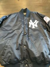New York Yankees Majestic Satin Bomber Jacket Cooperstown Collection XL Vtg