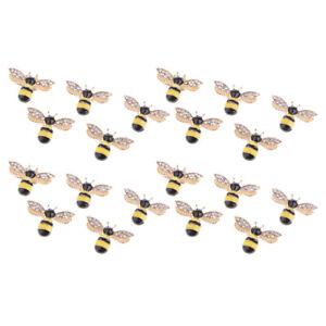20x Bee Rhinestone Flatback Embellishments for Clothing Bags DIY Jewelry Crafts