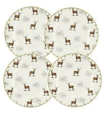 "Spode Glen Lodge Stag Design 8"" Plate Set of 4 by Portmeirion"