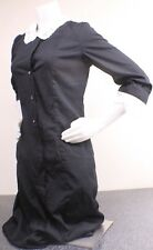 White Swan uniform dress black with pockets! 12 made in USA