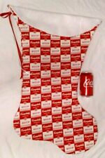 GIANT CHRISTMAS STOCKING CAMPBELL SOUP PRINT, HANDMADE & NEW