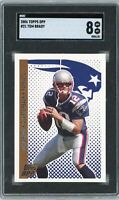 2006 Topps DPP #21 Tom Brady SGC 8 NM/MT