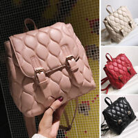Quilted Faux Leather Small Backpack Rucksack Daypack Travel Bag Purse Cute