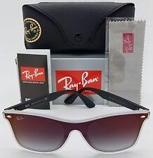 NEW Rayban Blaze Wayfarer sunglasses RB4440NF 6355U0 44 Black Red 4440 AUTHENTIC