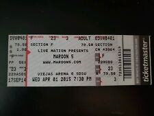 Maroon 5 Unused Concert Ticket
