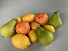 Lot of Artificial Faux Fake Food Realistic Citrus Fruits Lemons Oranges Pears