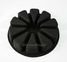 Large 10 Section Slice Wedge Portion Wheel Silicone Bakeware Cake Soap Mould Pan
