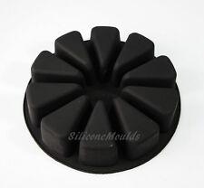 Porción grande 10 sección Rebanada Cuña Rueda Silicona Para Hornear Pan Molde Jabon Pastel