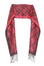 Red & Black Geometrical Criss Cross Tasselled Casual All Ages Scarf (S70)