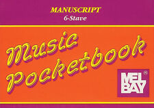 Mel Bay MANUSCRIPT/6-STAVE Music Pocketbook 32 page-NEW