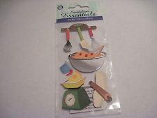 Scrapbooking Stickers Sandylion Cooking Kitchen Baking Utensils Scale Bowl Bowl