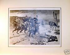 Antique Engraving of Frederic Remington's Western Scene
