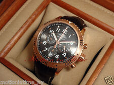 Breguet Transatlantique Type XXI Flyback Chronograph 18k Rose Gold 42.5mm 3810BR