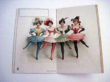 Vintage Card w/ Four Dance Hall Women w/ Legs Kicked Up Showing Petticoats*