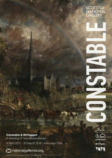Constable & McTaggart Exhibition Salisbury Cathedral from the Meadows Poster