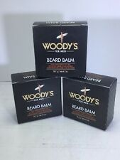 3x Woody's for Men Beard Balm 2oz Beard Conditioner & Style Wax